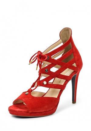 Босоножки Trussardi Jeans. Цвет: красный