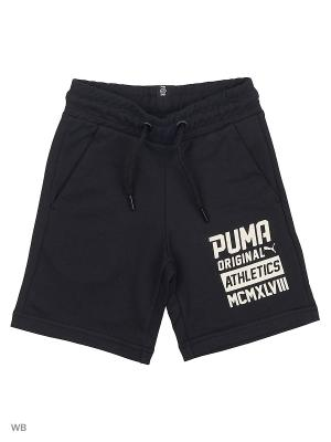 Бермуды Style Bermudas PUMA. Цвет: черный