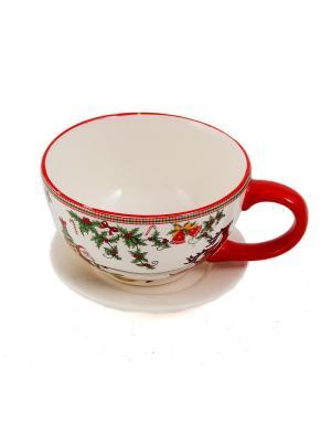 Чайная пара Русские подарки. Цвет: красный, белый