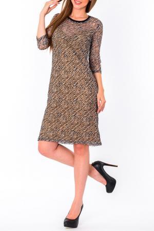 Платье S&A style. Цвет: бежево-черный