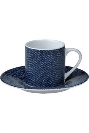 Набор кофейных пар 6 шт. Bitossi. Цвет: синий