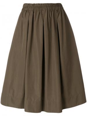 Пышная юбка кроя миди Aspesi. Цвет: зелёный