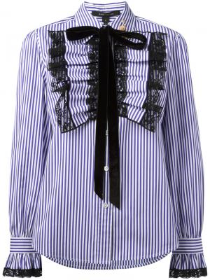 Рубашка с манишкой оборками Marc Jacobs. Цвет: розовый и фиолетовый