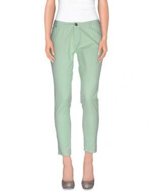 Повседневные брюки MAISON ESPIN. Цвет: светло-зеленый