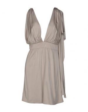 Короткое платье AZZARO. Цвет: бежевый