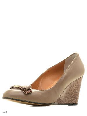 Туфли Gianmarco Benatti. Цвет: коричневый, темно-бежевый