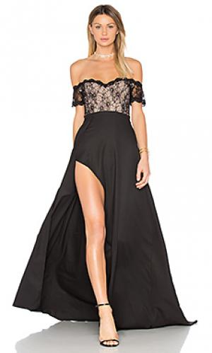 Вечернее платье montana Elle Zeitoune. Цвет: черный