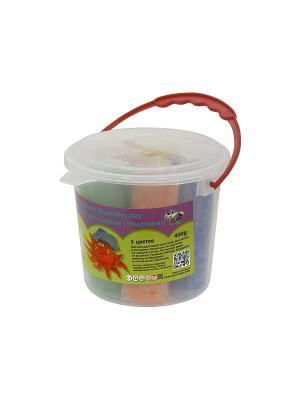 Пластилин 400гр (5цв х80гр)в пластиковом ведре Idigo. Цвет: прозрачный