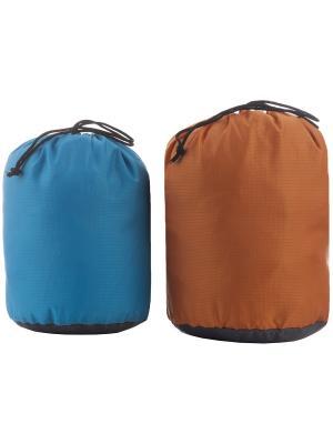 Набор из двух мешков для обуви OUTVENTURE. Цвет: голубой, оранжевый