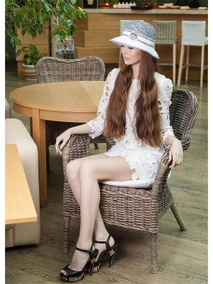 Шляпа AVANTA. Цвет: серый, белый