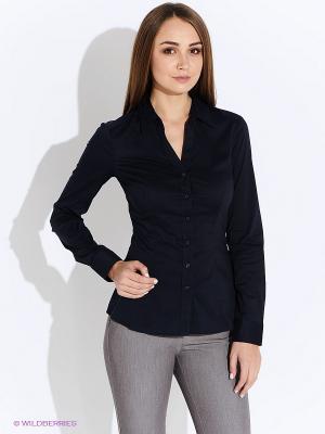 Блузка Oodji. Цвет: темно-синий