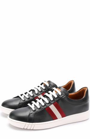 Кожаные кеды Wicky на шнуровке Bally. Цвет: черный