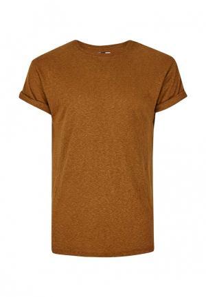 Футболка Topman. Цвет: коричневый