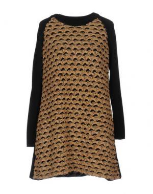 Короткое платье AKEP. Цвет: верблюжий