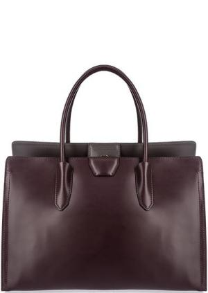 Бордовая кожаная сумка с одним отделом Gianni Chiarini. Цвет: бордовый