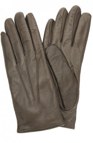 Кожаные перчатки с подкладкой из кашемира Sermoneta Gloves. Цвет: темно-бежевый