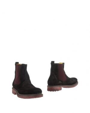 Полусапоги и высокие ботинки HERMAN & SONS. Цвет: темно-коричневый