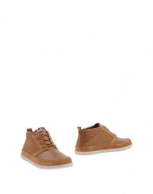 Полусапоги и высокие ботинки VOLTA. Цвет: верблюжий