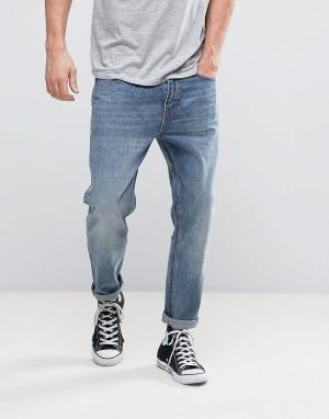 Rollas Выбеленные укороченные джинсы Stubs. Цвет: синий