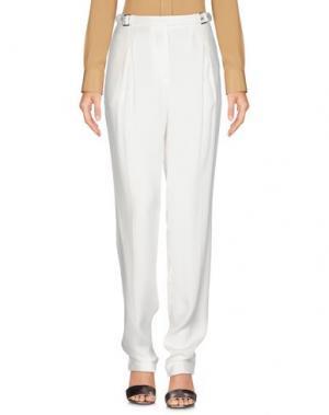 Повседневные брюки SANDRO Paris. Цвет: белый