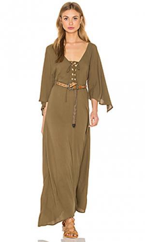Платье alexandria Cleobella. Цвет: оливковый