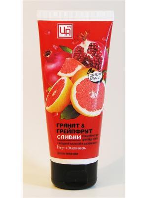 Сливки косметические Гранат&Грейпфрут для всех типов кожи лица и тела 100 г Царство Ароматов. Цвет: белый