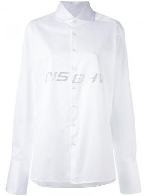 Декорированная рубашка с логотипом Misbhv. Цвет: белый