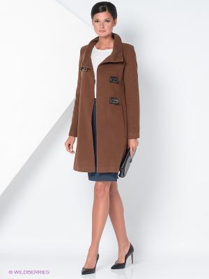 Пальто Gamelia. Цвет: коричневый, черный