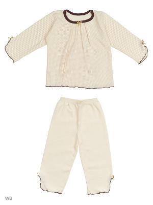 Пижамы Pollo. Цвет: темно-коричневый, молочный, кремовый