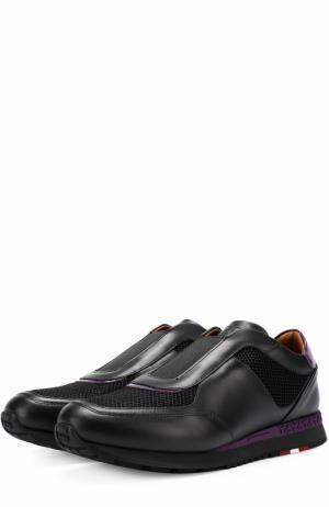 Комбинированные кроссовки Asala без шнуровки Bally. Цвет: черный