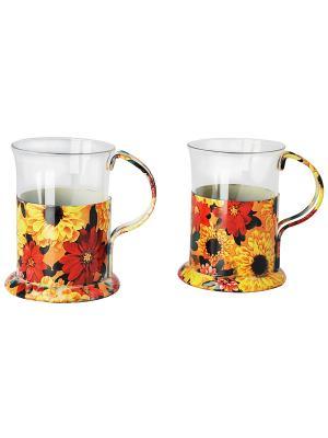 Набор посуды для чаепития Regent inox. Цвет: желтый