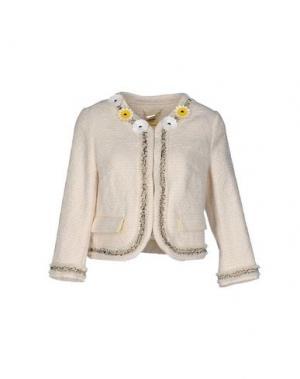 Пиджак TENAX. Цвет: слоновая кость