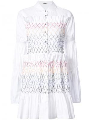 Ruffle shirt dress Jourden. Цвет: белый