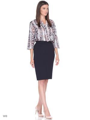 Блузка ESSA. Цвет: черный, розовый, серый