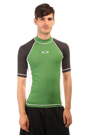 Термобелье (верх)  Ellipse Ss Rashguard Atomic Green Oakley. Цвет: зеленый,черный,белый