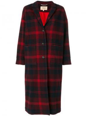 Пальто в клетку тартан Bellerose. Цвет: красный