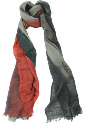 Кашемировый шарф с необработанным краем Franco Ferrari. Цвет: оранжевый