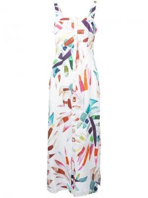 Платье миди Sheath Mara Hoffman. Цвет: белый