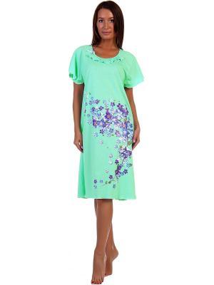 Ночная сорочка Водопад Натали. Цвет: салатовый