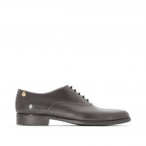 Ботинки-дерби резиновые Jeny LEMON JELLY. Цвет: серый металлик