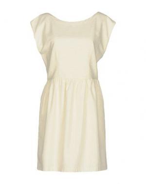 Короткое платье DES PETITS HAUTS. Цвет: слоновая кость