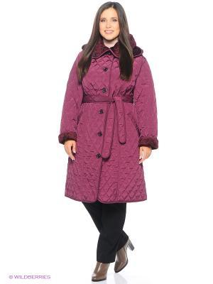 Стеганое пальто Emi Filini. Цвет: бордовый