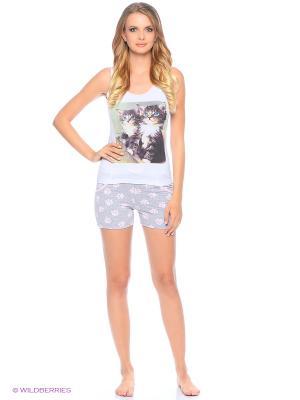 Пижама ночная женская (майка, шорты) MARSOFINA. Цвет: серый