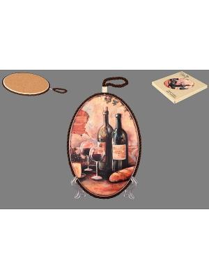 Подставка под горячее Натюрморт с вином Elan Gallery. Цвет: коричневый, бежевый, черный