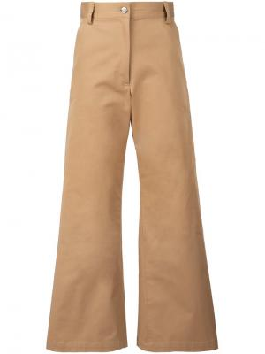 Расклешенные укороченные брюки Rachel Comey. Цвет: телесный
