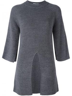 Джемпер со шлицей спереди Federica Tosi. Цвет: серый
