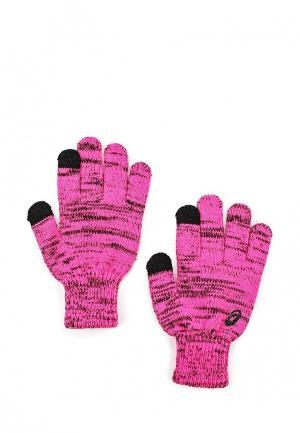 Перчатки ASICS. Цвет: розовый