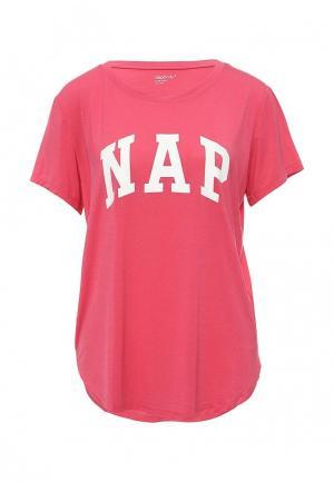Футболка домашняя Gap. Цвет: розовый