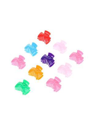 Комплект (Заколка-краб - 10 шт.) Migura. Цвет: розовый, зеленый, голубой
