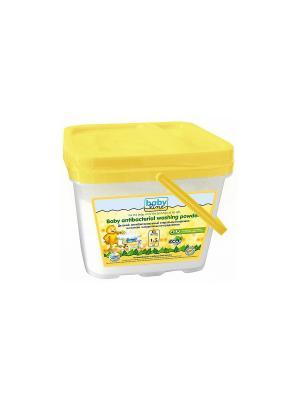 Детский стиральный порошок BABYLINE на основе натуральных ингредиентов 1,5 кг.. Цвет: белый, желтый